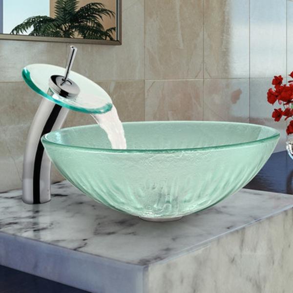 robinet-cascade-vasque-à-poser-en-verre-robinet-rond