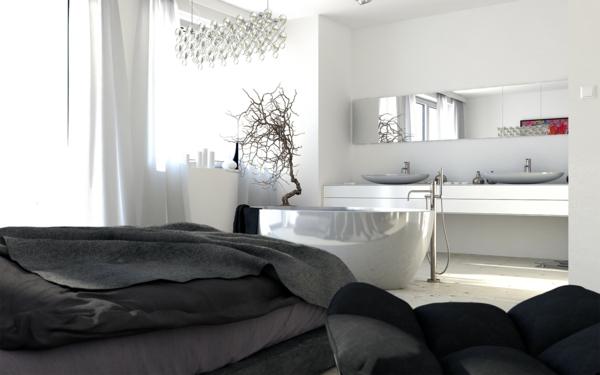robinetterie-de-baignoire-baignoire-lisse-blanche-et-robinet-autoportant