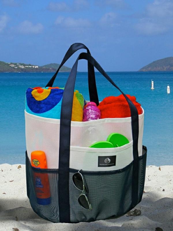 sac-a-plage-bien-organisé-aller-à-la-plage-sac-grand-de-plage