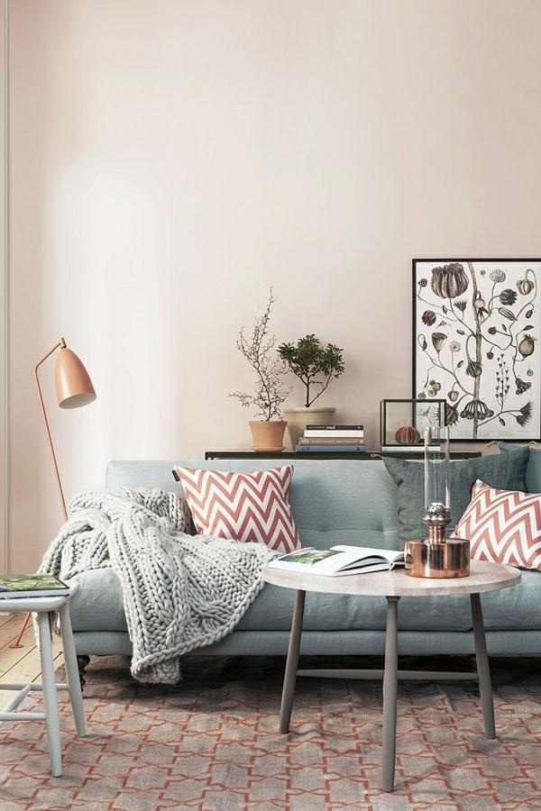 salon-deco-cocooning-canapé-gris-coussins-colorés-blanc-rouge-table-en-bois-gris