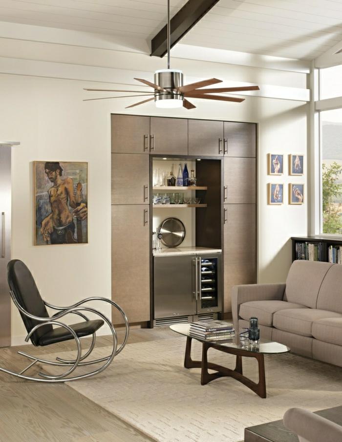 salon-moderne-chaise-berçante-ventilateur-de-plafond-salon-commode-table-basse