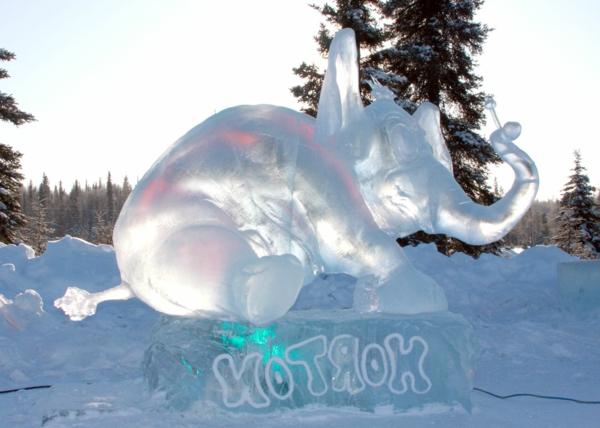 sculpture-de-glace-éléphant