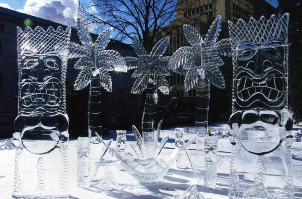 sculpture-de-glace-éthno-symboles