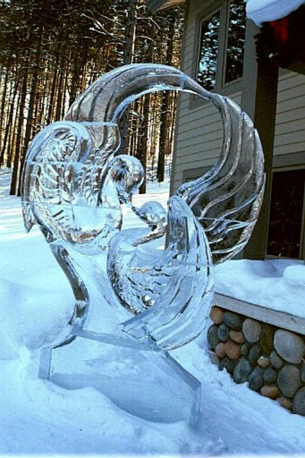 sculpture-de-glace-deux-oiseaux