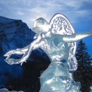 La sculpture de glace - une inspiration hivernale