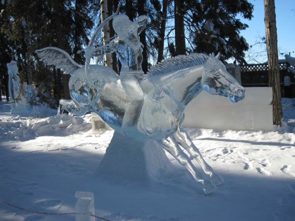 sculpture-de-glace-le-sagitaire