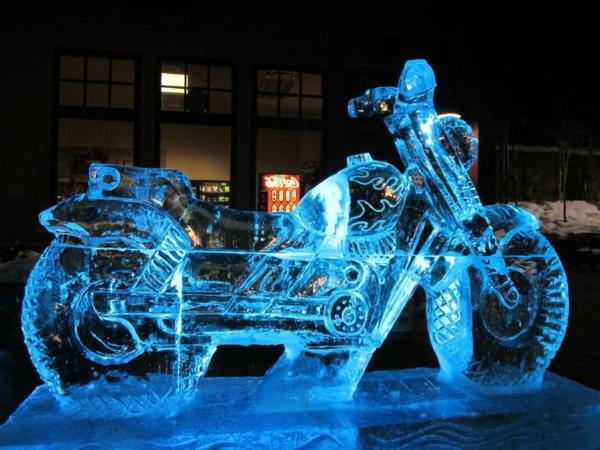 sculpture-de-glace-moto
