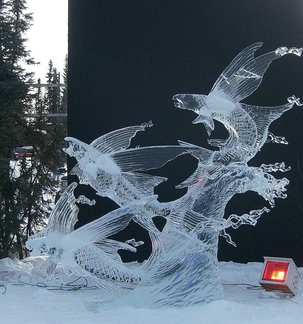 sculpture-de-glace-poissons-volantes