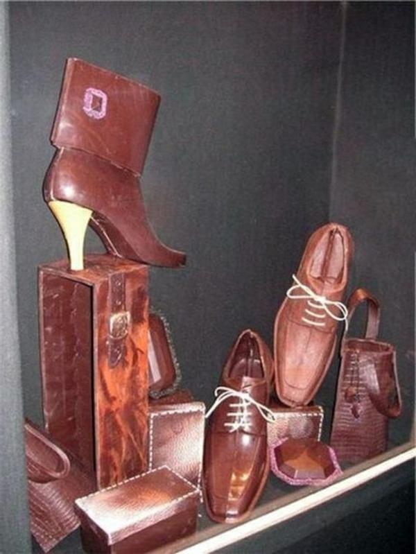 sculpture-en-chocolat-chaussures-en-chocolat