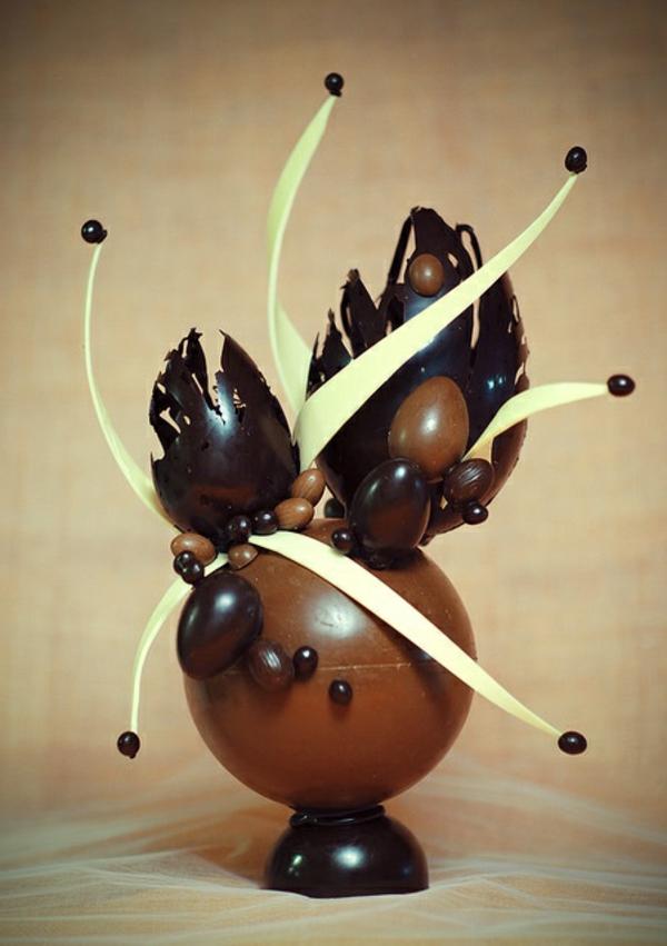 sculpture-en-chocolat-chocolat-noir-et-blanc