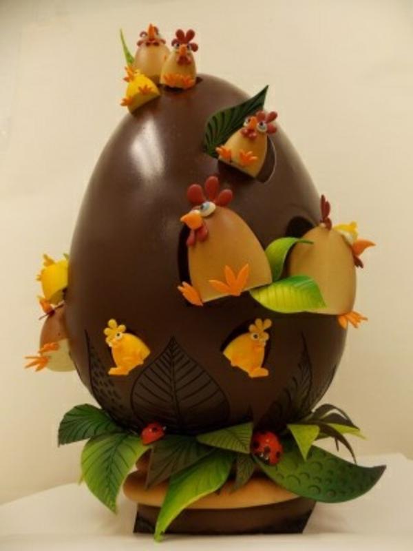 sculpture-en-chocolat-décoration-de-fêtes