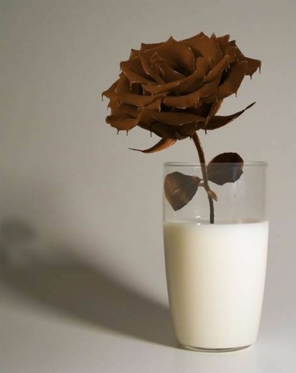 sculpture-en-chocolat-rose