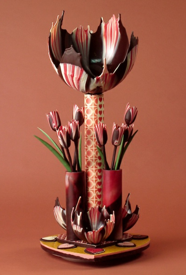 sculpture-en-chocolat-tulipes-en-chocolat