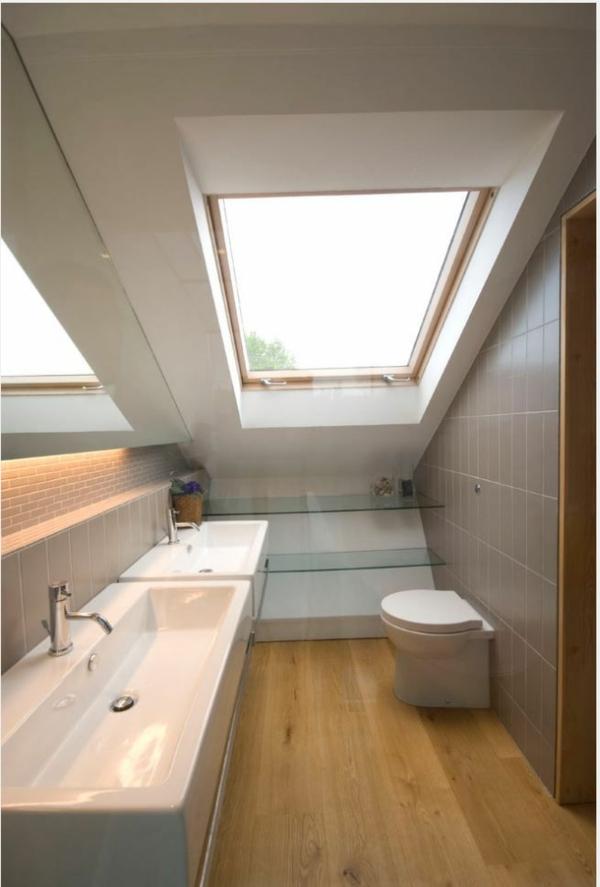 Top Une salle de bain sous pente ou sous combles en 52 photos! AD18