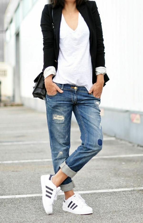 Top Le jean boyfriend femme - 70 idées comment le porter? - Archzine.fr EK79