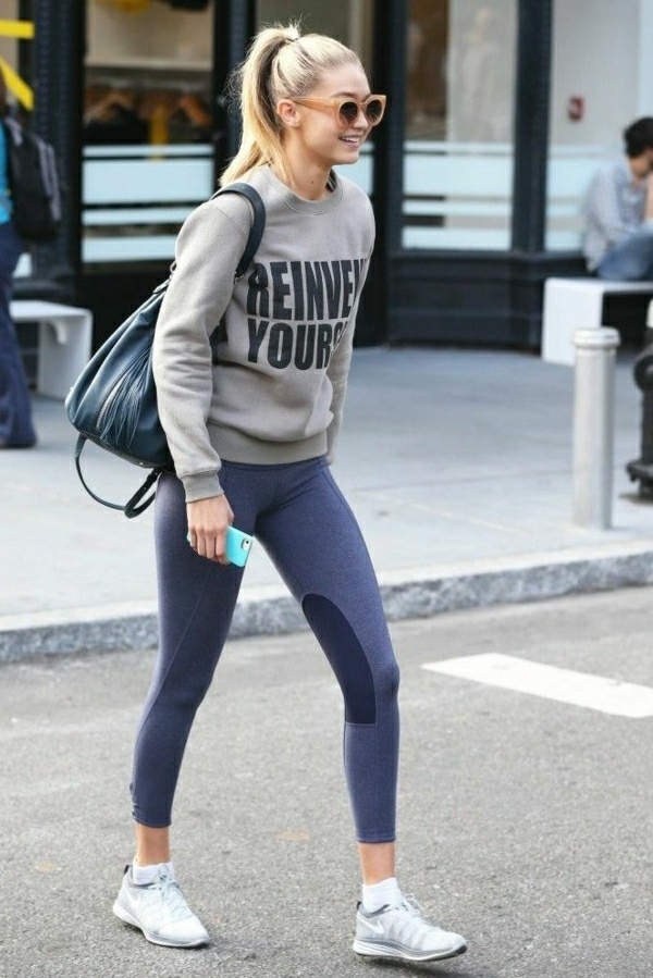 sweatshirt-sportif-gris-fille-mode-cheveux-blondes