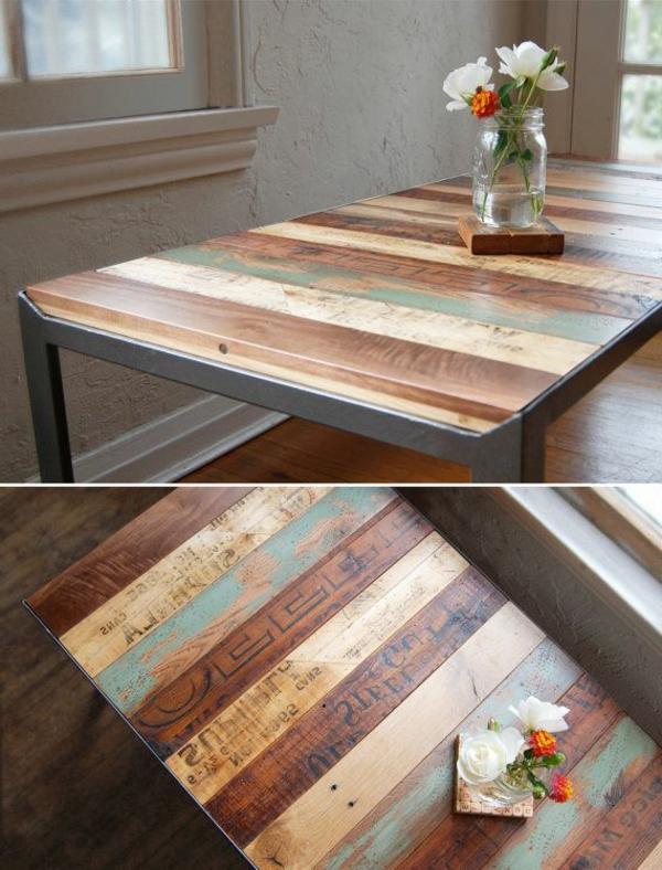 table-basse-avec-palette-insolite-coloré-fleurs