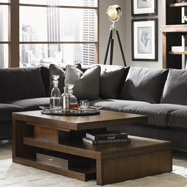 table-basse-avec-palette-marron-fenetre-canapé-gris