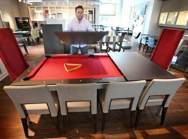 La table billard convertible une solution jolie et - Comment fabriquer une table de billard ...