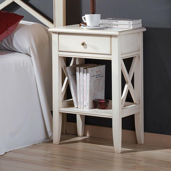 table-chevet-chambre-à-coucher-jolie