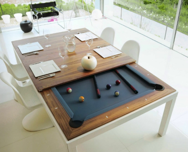 la table billard convertible une solution jolie et pratique pour la salle de s jour. Black Bedroom Furniture Sets. Home Design Ideas