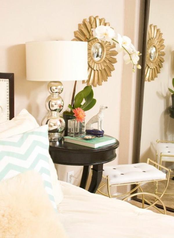 Comment choisir la plus belle lampe de chevet - Table de nuit bois blanc ...