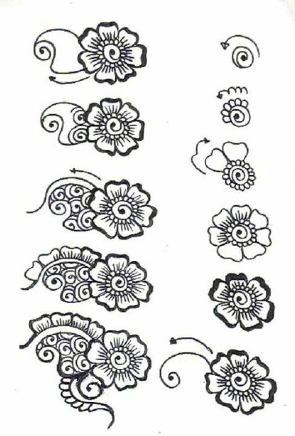 Dessin Pour Henné 60 idées avec le henné pour créer de l'art - archzine.fr