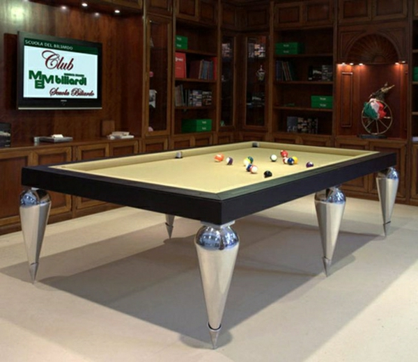 La table billard convertible une solution jolie et pratique pour la salle d - Billard transformable en table ...