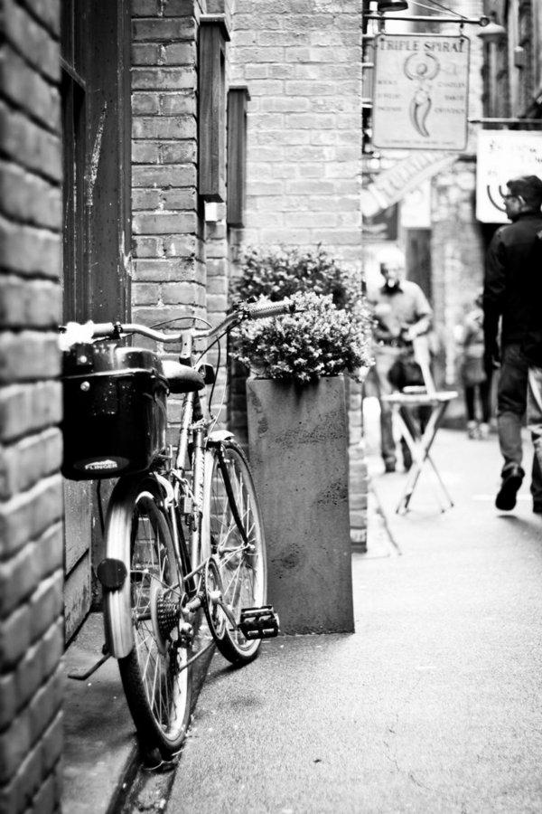 une-photographie-artistique-en-noir-et-blanc-byciclette-sur-la-rue