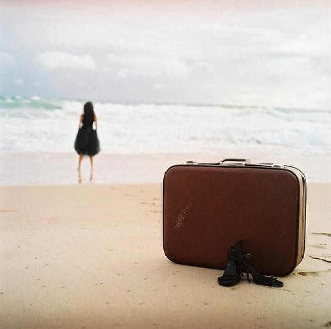 valise-cabine-samsonite-valise-delsey-au-bord-de-la-mer