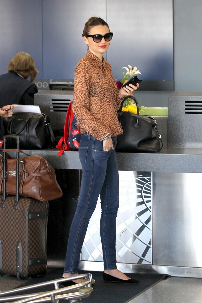 Miranda Kerr Valise cabine - voyager avec style