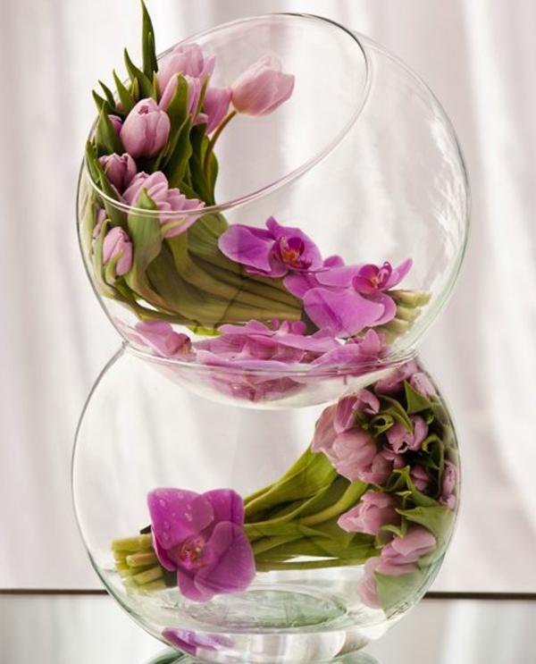 Le vase boule petit objet avec de grandes id es - Boule en verre pour plante ...