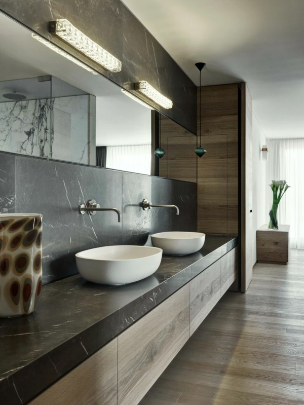 vasque-en-pierre-deux-vasques-à-poser-blanches