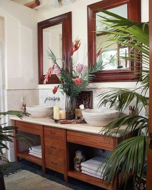 vasque-en-pierre-double-vasque-en-pierre-et-deux-miroirs-rectangulaires