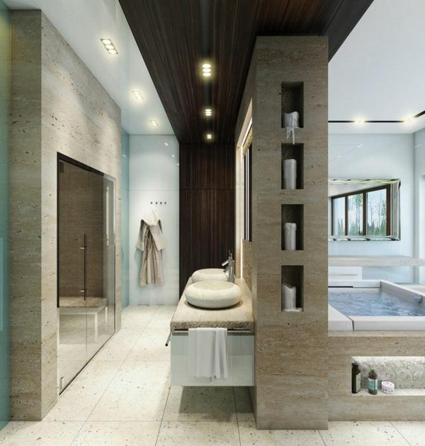vasque-en-pierre-salle-de-bain-spacieuse-deux-vasques-rondes