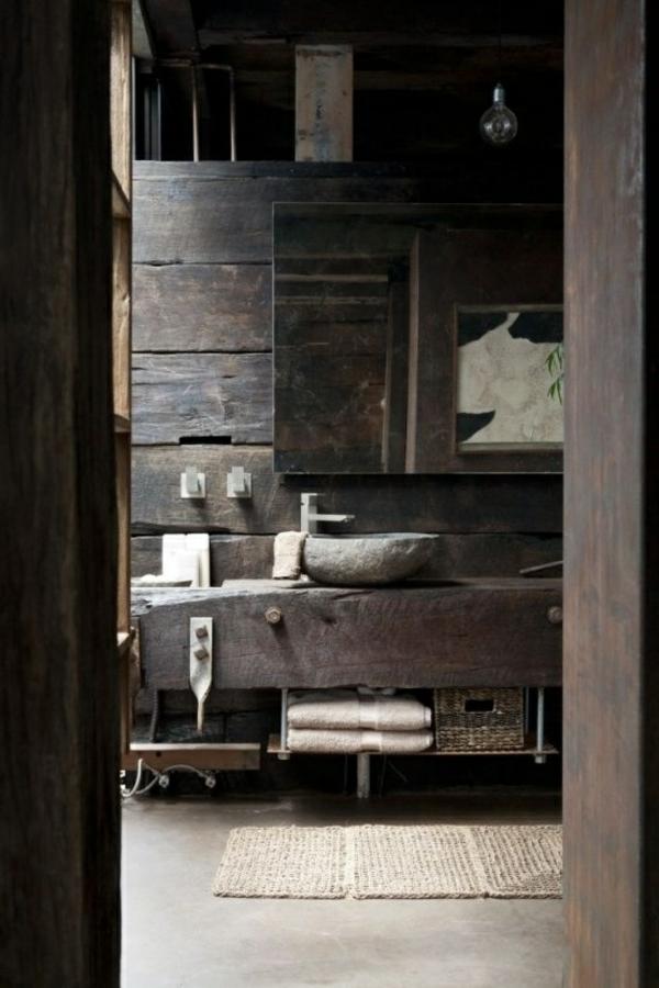 Salle de bain rustique ide dco pour une salle de bain for Salle bain rustique