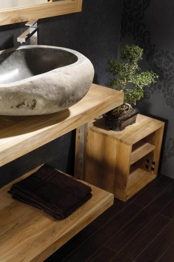 vasque-en-pierre-vasque-à-poser-sur-un-plateau-en-bois