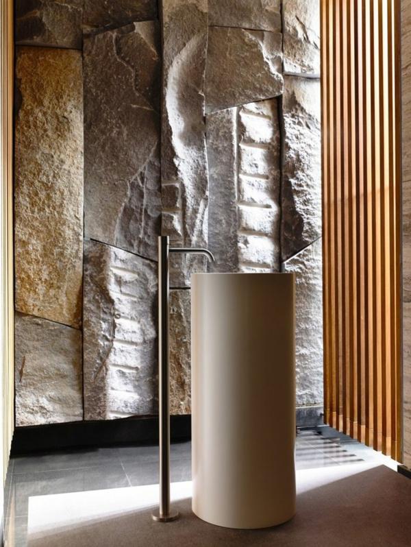 vasque-en-pierre-vasque-colonne-et-revêtement-mural-original