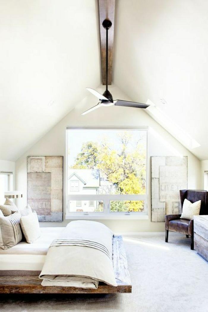 Le ventilateur de plafond toujours la mode for Chambre a coucher sans fenetre