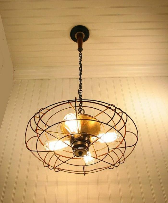 ventilateur-plafond-lustre-insolite-en-fer-toit-en-planchers-moderne
