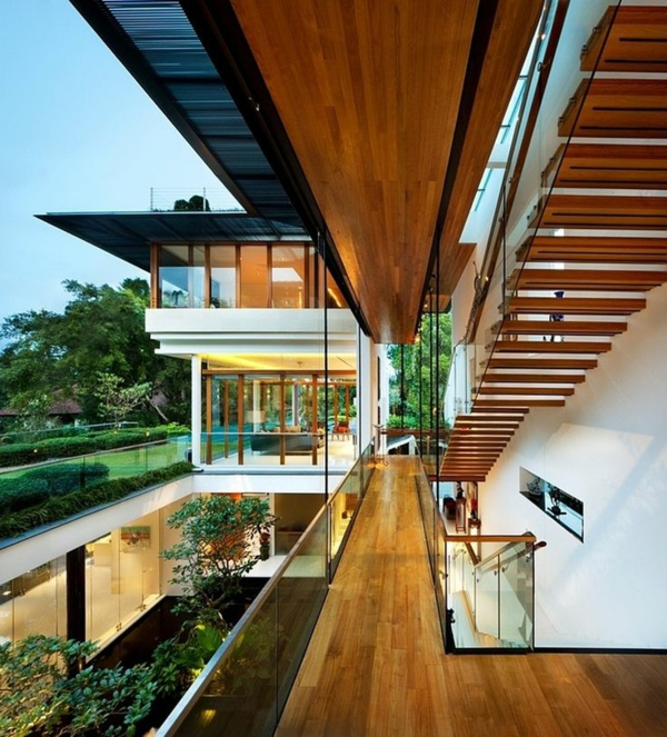 villa-contemporaine-escalier-flottant-incroyable
