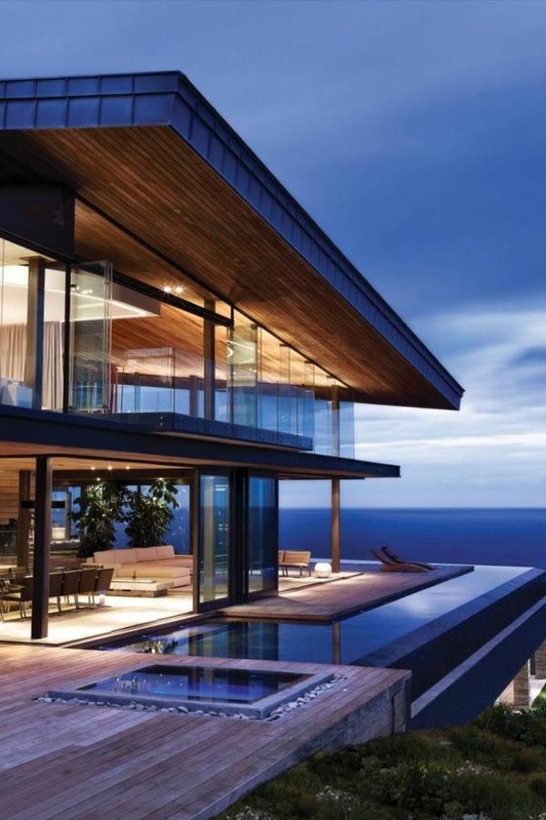 villa contemporaine, maison de vacances sensationnelle