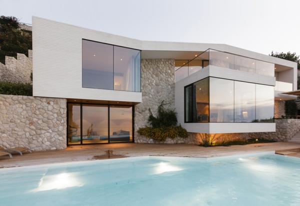 Exemple Facon De Entre Villa En Tunisie  villa contemporaine, design