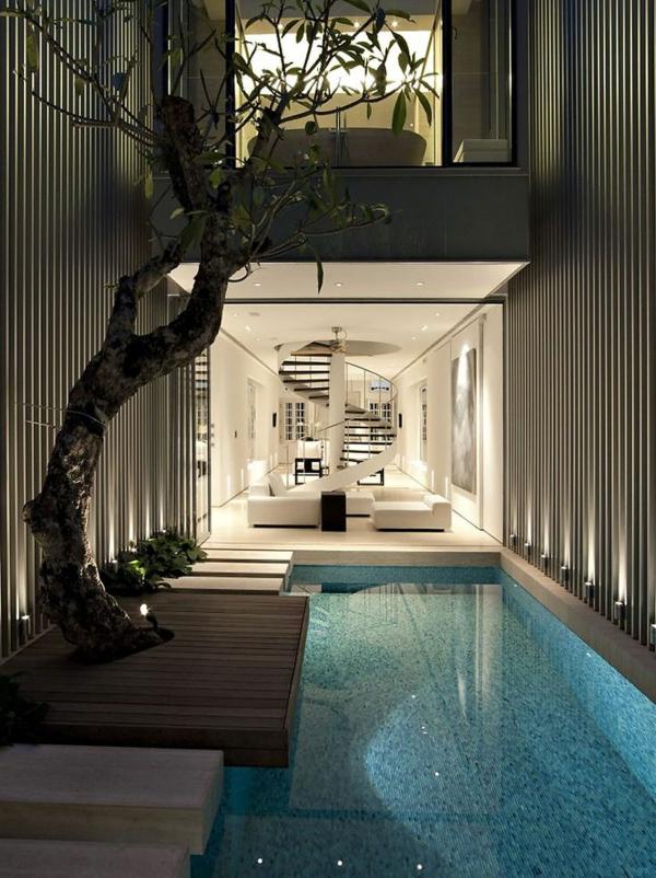 villa-contemporaine-piscine-intérieure