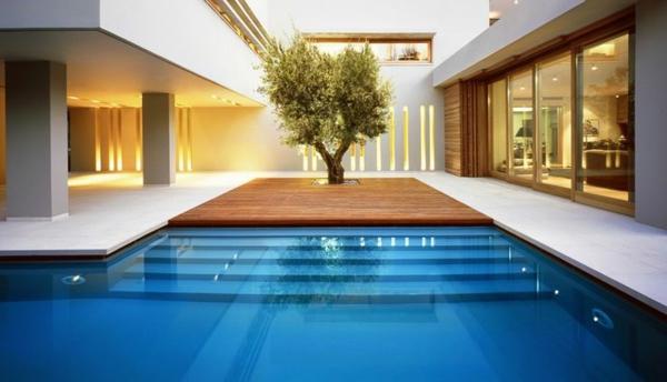 Maison en u avec patio floor plan friday bedroom study for Maison contemporaine en u