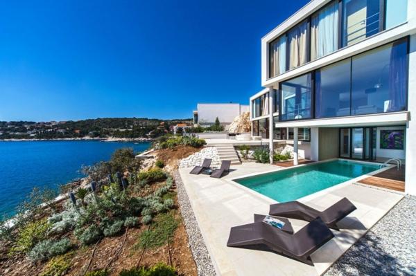 Exemple Facon De Entre Villa En Tunisie  villa contemporaine au bord