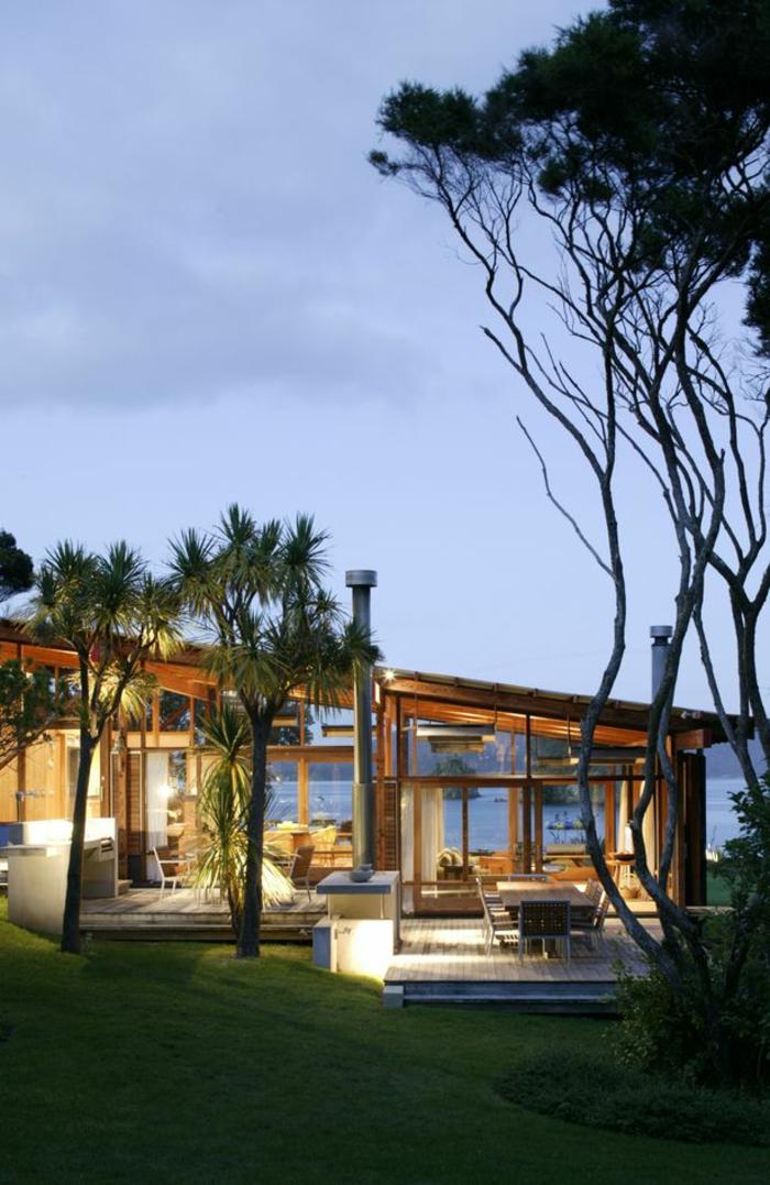 éclairer-la-maison-avec-les-lampes-d-extérieur-maison-avec-luminaires-extérieurs