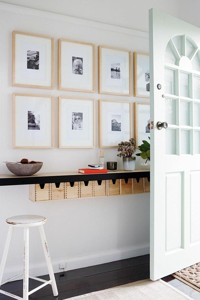 étagère-murale-petite-étagère-murale-en-bois-photos-murales-chaise-de-bar-en-bois