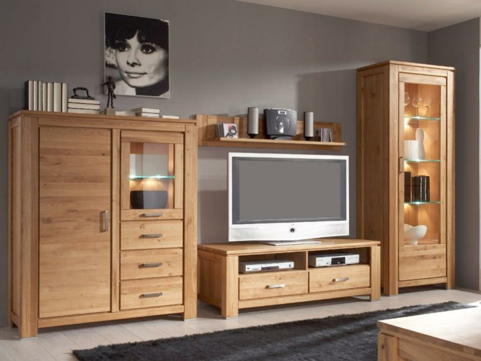 meuble tv bois massif moderne. Black Bedroom Furniture Sets. Home Design Ideas