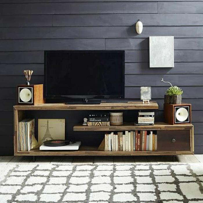 Bedroom Tv Cabinet Design Art Deco Style Bedroom Ideas Bedroom Fireplace Bedroom Design Styles: Le Meuble Télé En 50 Photos, Des Idées Inspirantes